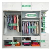 定制实木衣柜现代简约推拉门组装卧室家用经济型移门小户型大衣橱