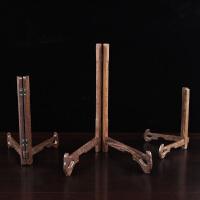 鸡翅木普洱茶饼架茶架子茶具配件红木盆架展示架托盘架支架
