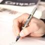 三菱笔三菱中性笔日本uni三菱UB-157走珠笔 UB157签字笔 0.7直液式水笔中性笔