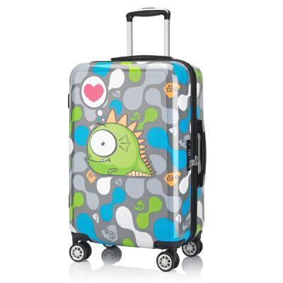 【萌系印花箱】OSDY新款拉杆箱个性印花箱 男女旅行万向轮海关锁24寸行李箱小清新萌系搭配