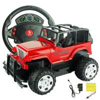 可充电摇控车越野车方向盘儿童玩具汽车漂移电动男生玩具厂家批发 充电版越野款 方向盘遥控
