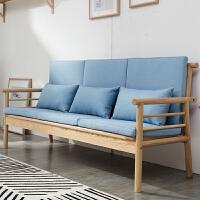 【品牌特惠】北欧风布艺沙发组合简约可拆洗客厅小户型整装冬夏两用沙发 70*70*90cm原木色位