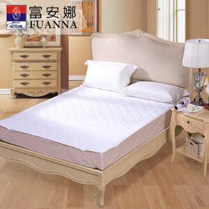 [当当自营]富安娜床垫磨毛印花保护垫 轻柔薄床垫 白色 150*200