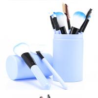 美妆套装粉刷化妆刷套装工具初学者化妆全套组合便携12支眼影刷桶 人造纤维