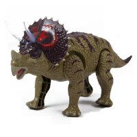 文盛 会走路发声电动恐龙玩具  儿童动物玩具模型 三角龙5315