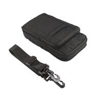 男士双层手机腰包穿皮带套5.5寸6寸7寸手机包竖款尼龙料皮套背包