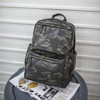 潮男双肩包男士商务背包旅行防雨百搭ifashion电脑书包时尚潮流 迷彩