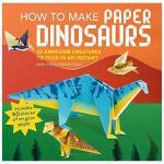 【特惠包邮】How to Make Paper Dinosaurs 如何制作纸恐龙 25种折叠恐龙 英文原版