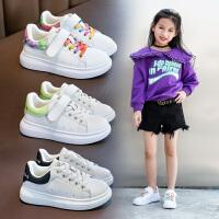 儿童板鞋女童小白鞋男童运动鞋秋季中大童时尚鞋子潮