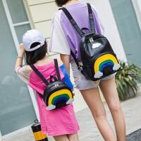3-6岁儿童背包带牵引绳书包男女宝宝双肩背包云彩亲子包