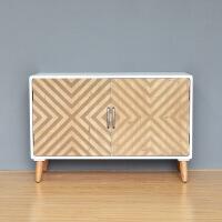 美式家具简约现代斗柜子储物欧式玄关卧室电视柜样板房柜子