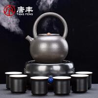 唐丰TF-8649陶壶煮茶壶陶瓷煮茶器烧茶壶电热电陶炉烧水壶家用煮茶炉套装