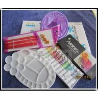儿童小学生入门马利水彩/水粉颜料12色+笔筒+画笔+水粉纸 5件套装