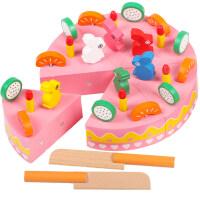 木制磁性水果切切乐玩具过家家套装小女孩儿童宝宝切切看组合