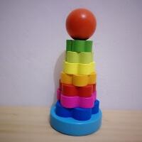 套叠玩具 彩虹圈叠叠乐 婴儿套圈圈玩具彩虹塔叠叠圈套塔儿童套叠玩具 花花叠叠圈