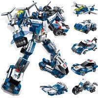 积木拼装玩具男孩变形机器人金刚儿童益智力