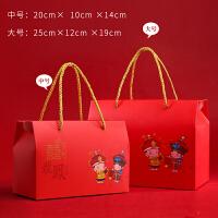 结婚用品手提袋回礼盒创意中国风大号喜糖盒子礼盒浪漫韩式伴手礼