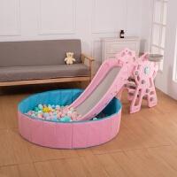 滑滑梯儿童室内幼儿园家用室户内外儿童宝宝摩天轮滑梯小型多功能音乐塑料滑梯组合家庭乐园玩具 粉色摩天轮滑梯+球池