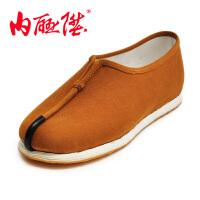 内联升 老北京布鞋 男鞋机纳千层底贴胶片 僧鞋 和尚鞋 3196C
