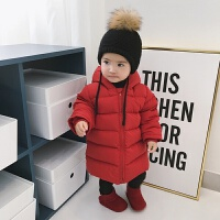 婴童装冬季宝宝保暖白鸭绒羽绒服婴儿羽绒连体衣