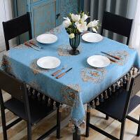 欧式桌布布艺正方形台布餐桌布小方桌家用八仙桌四方客厅茶几麻将定制