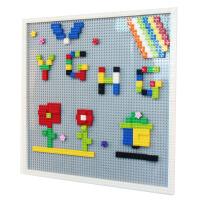 幼儿园积木墙壁 大颗粒乐高积木墙面 商场儿童玩具区域建构墙体上