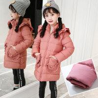 女童大衣女童冬装2018新款棉衣中大童加厚棉袄女孩中长款儿童童装外套MYZQ67