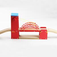 木质吊桥磁性木制百变托马斯小火车轨道配件兼容布里奥轨道车玩具 数量有限,赶紧抢购