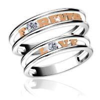 梦克拉 18k钻石戒指情侣对戒钻戒 钻石对戒情侣款结婚对戒Love 奇缘 求婚结婚钻戒