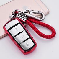 大众钥匙包CC钥匙壳迈腾钥匙扣男女式汽车蔚揽改装保护套高档