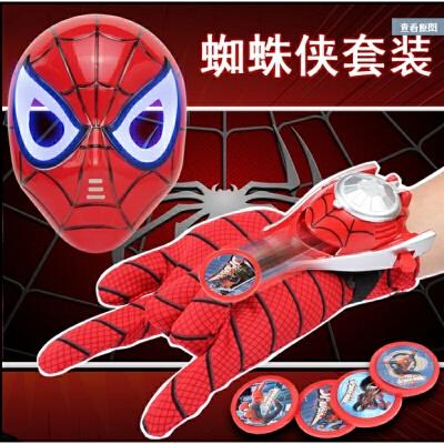 儿童蝙蝠侠面具美国队长盾牌护甲套装蜘蛛侠小孩表演道具派对玩具