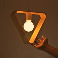 北欧现代简约餐厅木艺吊灯创意客厅卧室木灯具咖啡厅吊灯灯具灯饰
