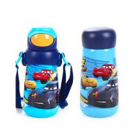 迪士尼儿童吸管杯宝宝保温杯带吸管两用直饮杯410ml小孩水杯喝水杯子