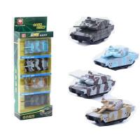 儿童回力小汽车合金玩具车模型套装男孩耐摔工程挖掘机2-3-4周岁 合金-坦克4件套-彩盒 -回力功能