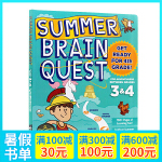 Summer Brain Quest:Between Grades 3&4 大脑任务 英文原版 暑期练习册3-4年级