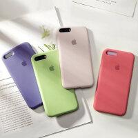 iPhone8手机壳苹果7plus液态硅胶6plus新款全包8磨砂软7超薄防摔6s套iPhone7潮牌6splus外壳i