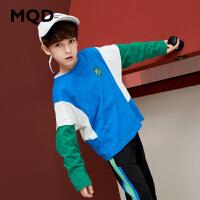 MQD男童长袖T恤中大童运动上衣2019秋季新款韩版洋气潮服儿童体恤