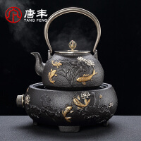 唐丰铸铁电陶炉套装家用 铸铁壶煮茶壶电热泡茶烧水壶茶具煮水壶