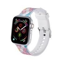 苹果运动手表带apple watch4表带iwatch4/3/2/1代通用表带硅胶表带男女