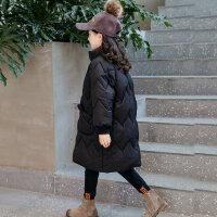 女童棉衣冬装2018新款韩版女孩洋气棉袄外套大儿童棉服中长款童装