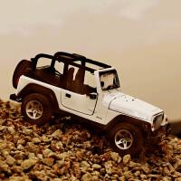 1:27吉普牧马人汽车模型 仿真JeepSUV越野静态合金车模原厂