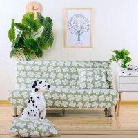 简易无扶手折叠沙发床罩1.2米1.5米1.8米长X95宽沙发床全包沙发套定制定制 桔红色 漫漫飞雪