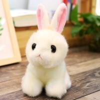 仿真兔子毛绒玩具小白兔公仔可爱兔兔布娃娃儿童玩偶女孩生日礼物