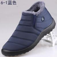 冬季布鞋男棉鞋加绒加厚保暖爸爸棉鞋中老年人父亲棉靴