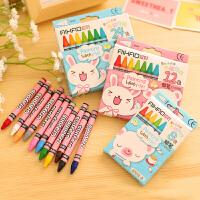 爱好儿童蜡笔可水洗宝宝蜡笔12色幼儿蜡笔画画涂鸦笔油画棒67012