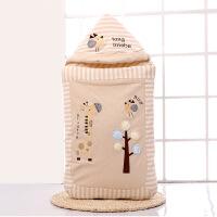 新生婴儿抱被 纯棉 秋冬婴儿抱被睡袋两用包被新生儿秋冬季加厚纯棉保暖初生外出宝