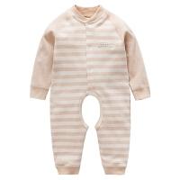 0-3-6-9个月婴儿睡衣婴儿连体衣春秋款彩棉宝宝哈衣夏棉