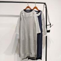 2018学院风秋装毛衣两件套女套头韩版宽松针织毛线裙子套装冬学生 均码-企业生产