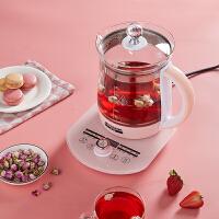 半球(Peskoe)养生壶煮茶器煮茶壶电水壶热水壶烧水壶电热水壶迷你玻璃花茶壶 粉色