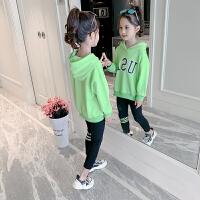 2019新款潮流中大童女孩卫衣洋气时髦两件套女童秋装套装